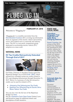 Electrification Coalition Monthly Newsletter Re-Brand (Full View)
