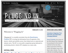 Electrification Coalition Monthly Newsletter Re-Brand