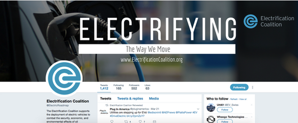 Electrification Coalition Twitter Re-Brand