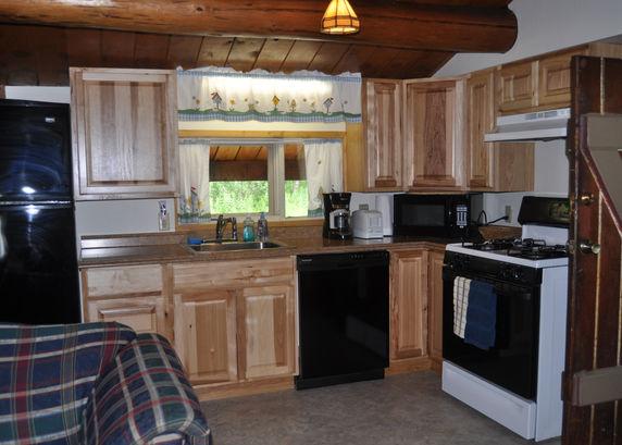 Kitchen - Daniels Lake Cabins/Kenai Peninsula, Alaska/Vacation Rentals