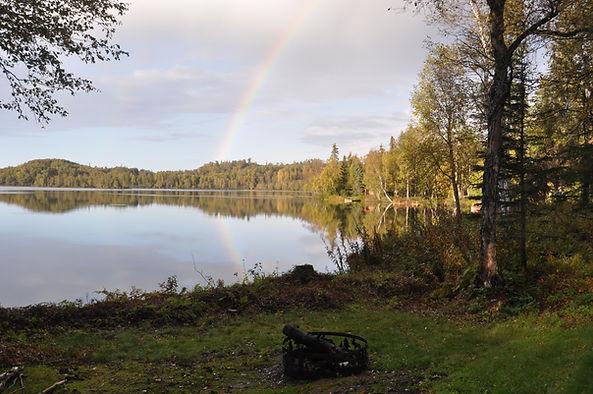 Double rainbow - Daniels Lake Cabins/Kenai Peninsula, Alaska/Vacation Rentals