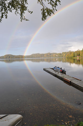 Rainbows in Daniels Lake - Daniels Lake Lodge/Kenai, AK/vacation rentals