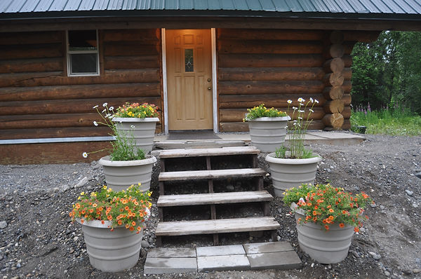 Cabin Front Door - Daniels Lake Cabins/Kenai Peninsula, Alaska/Vacation Rentals