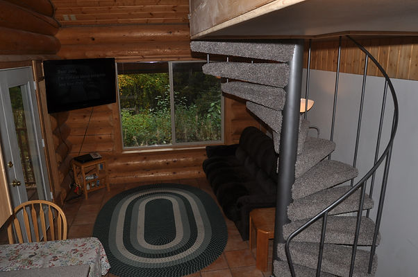 Livng Room Side of Front - Daniels Lake Cabins/Kenai Peninsula, Alaska/Vacation Rentals