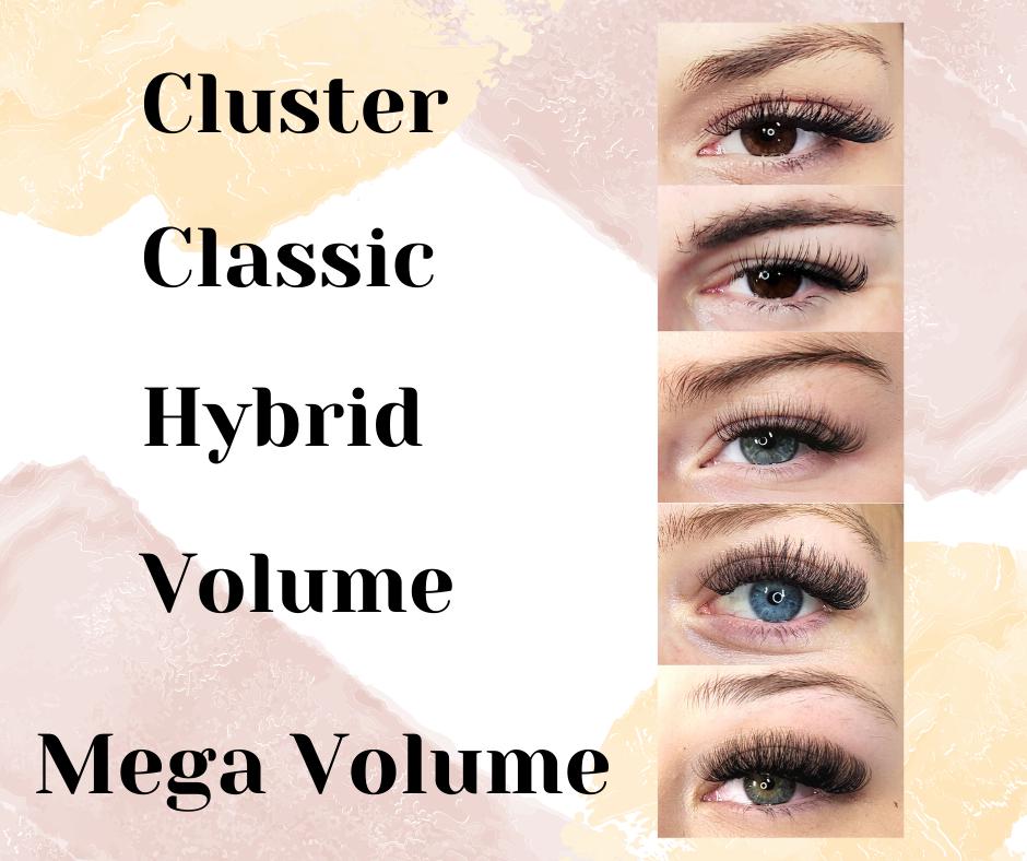 Lash Extensions Comparisons - Cluster to Mega Volume.png