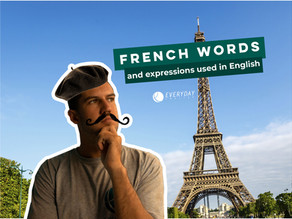 French words and expressions used in English