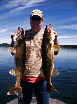 Big Jim w/ 2 Big Walleye