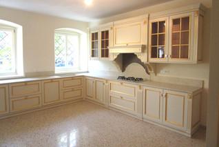Cucina in legno Gold foglia oro