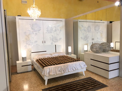 Camera in frassino spazzolato bianco
