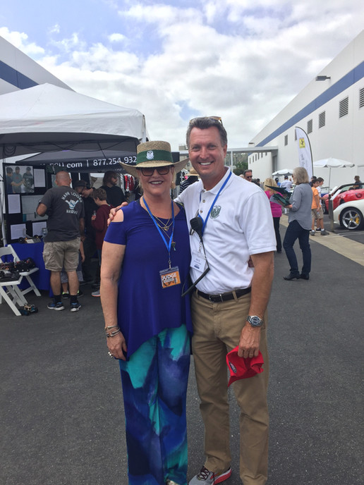 Christi Edelbrock at Concours Charity Fu