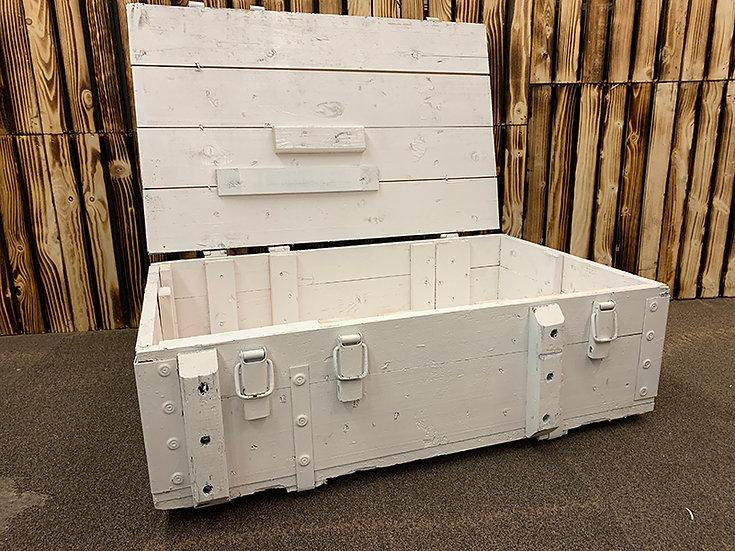 Weiße Upcycling Tischtruhe | 82x57x54cm