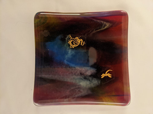 Square Sushi Dragon Gold & Flying Dragon Decals