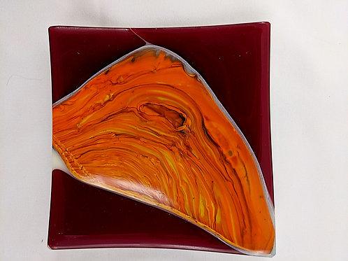 Square Sushi Red Orange Pot Melt