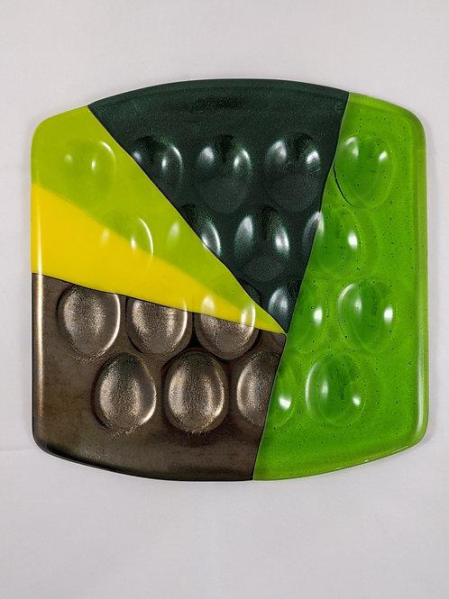 Square Egg Tray Aventurine Green