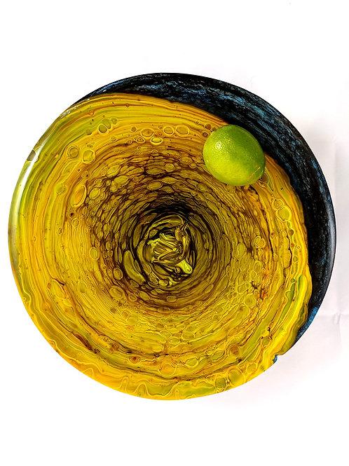 Round Platter Pot Melt Green