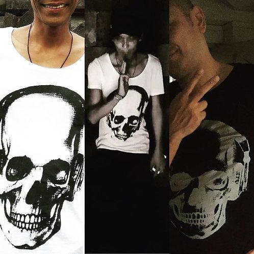 Yapaii Skull Tshirt Black 0r White