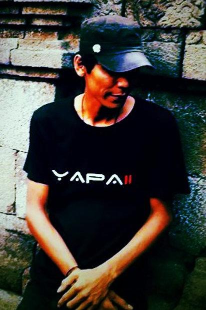 Yapaii Black Silver Silkscreen Tshirt Unisex