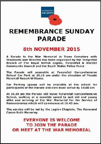 Remeberance Day 2015