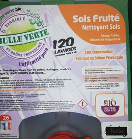 Nettoyant sol senteur fruité