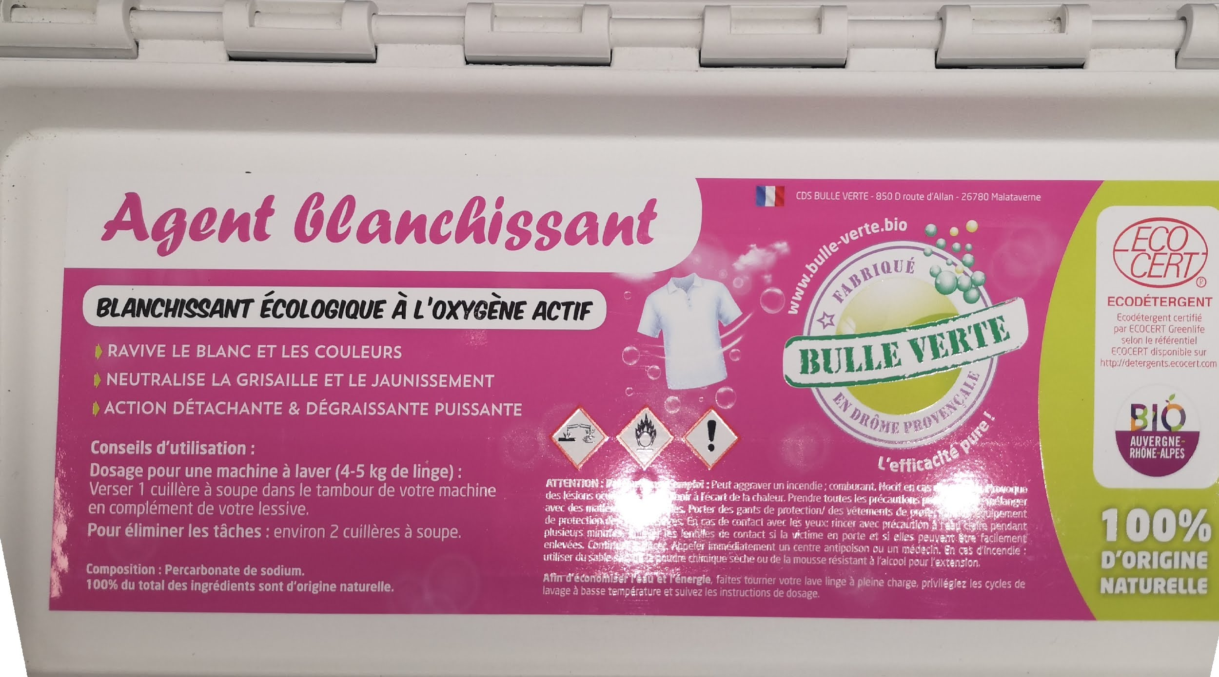 Agent blanchissant (Percarbonate)