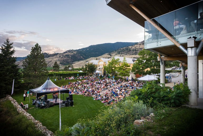 Tinhorn Creek Miradoro wine paired dinner and Canadian Concert Series