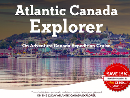 Explore Atlantic Canada with Margret Atwood