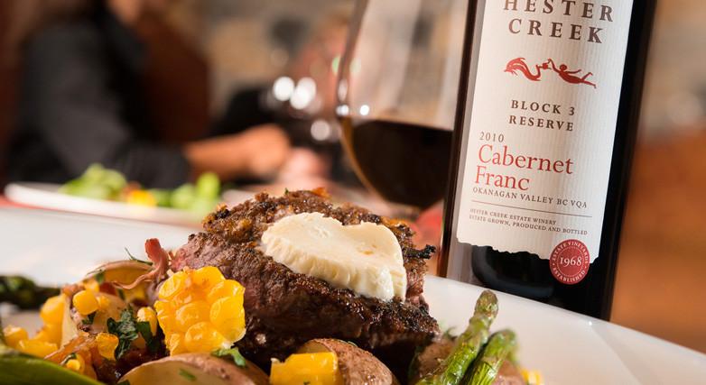 Hester Creek Wine Paired Dinner at Terrafina Luxury Wine tour