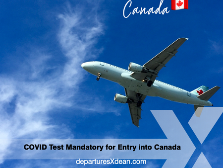 Negative COVID-19 PCR Test now required for all arrivals into Canada