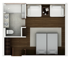 Aqua Mekong Oceanview suite layout - reserve now