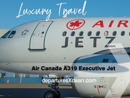 Air Canada Jetz A319 luxury jet