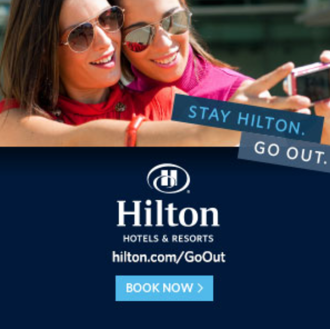 Hilton Pride Go Out and stay with Hilton a proud WinterPRIDE partner
