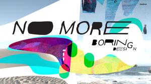 "alt=""Design photo No more boring design over wave"""