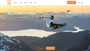 "alt=""snowboarder jumping on big jump in the mountains with a follow drone to capture images"""