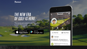 "alt=""golf app with golf field in the background"">"