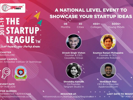 Jury at THE STARTUP LEAGUE 2018-19 by Million Minds