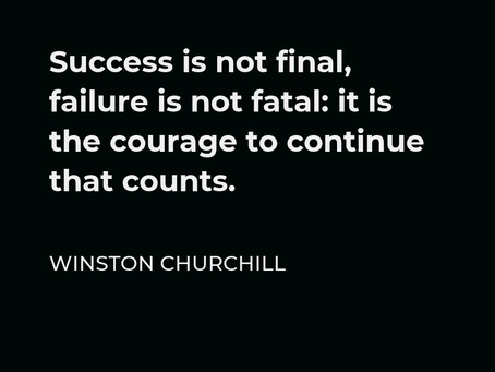 Courage to continue!