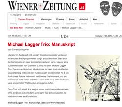 Michael Lagger Trio_ Manuskript - Wiener Zeitung Online