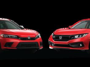 2022 Honda Civic Vs. 2021 Honda Civic