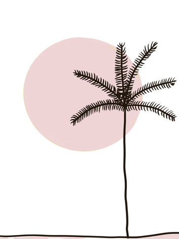 pretty in pink palm