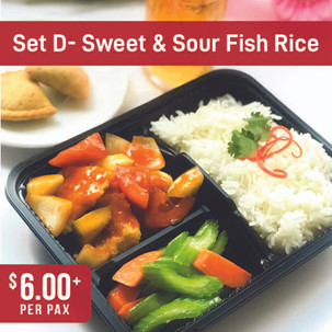 Value Bento Set D- Sweet & Sour Fish with Rice