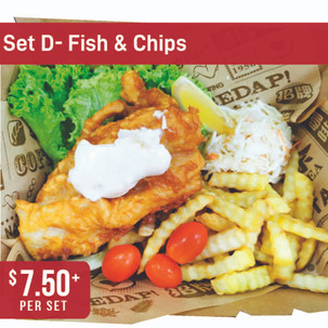 Western Bento Set D - Fish and Chips Combo
