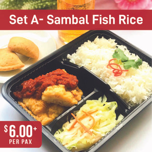 Value Bento Set A- Sambal Fish with Rice