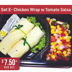 Western Bento Set E - Chicken Wrap with Tomato Salsa