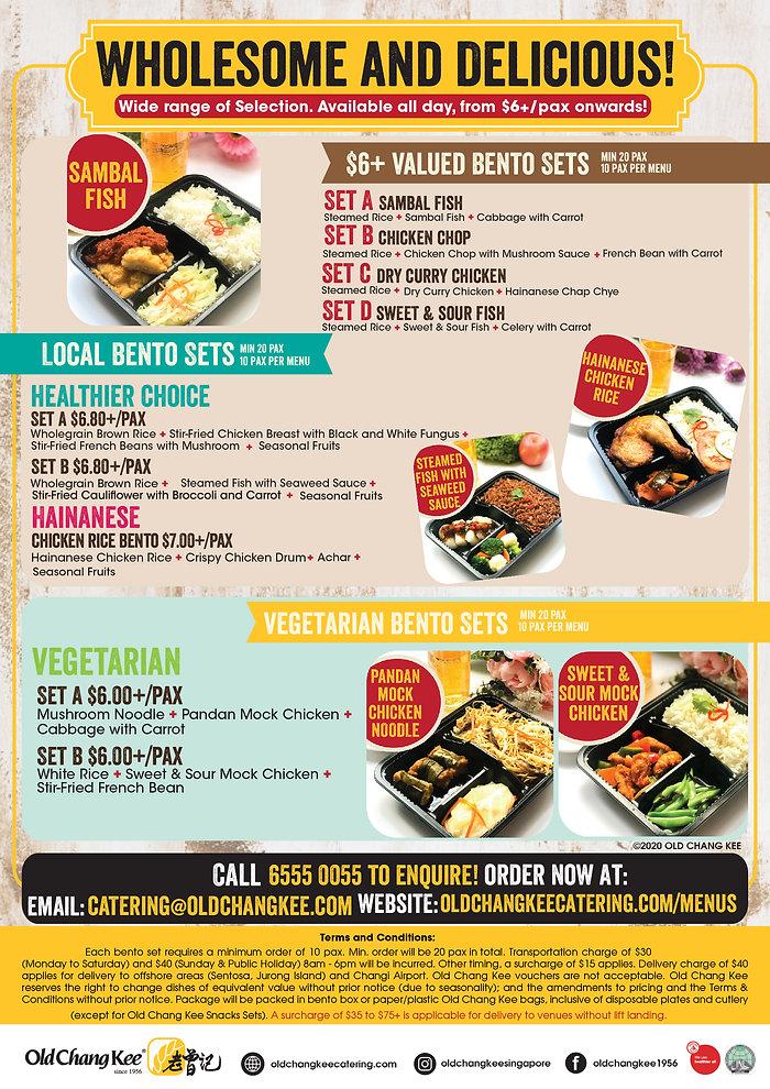 OCK Catering- Wholesome Bento EDM 011220