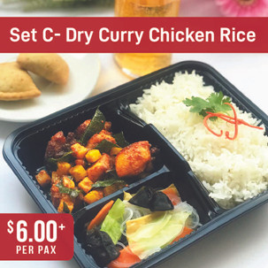 Value Bento Set C- Dry Curry Chicken with Rice