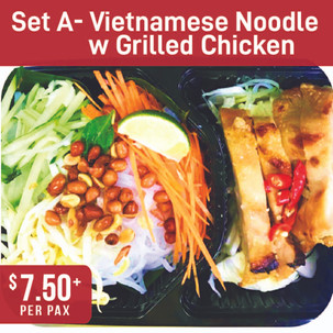 Asian Specialty Set A- Vietnamese Noodle with Grilled Chicken