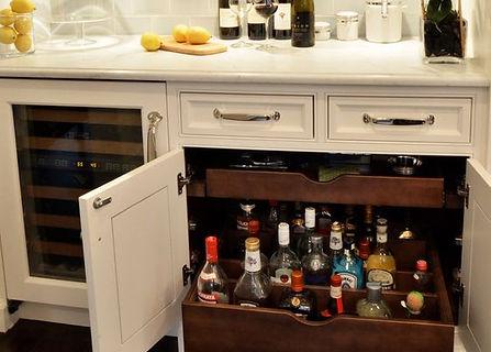 Parents liquor cabinet