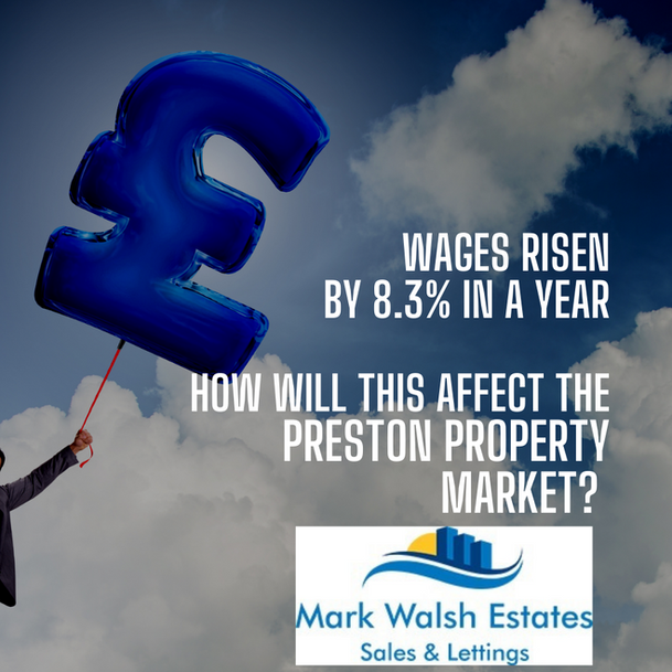 Wages Rising by 8.3% pa - How Will This Affect the Preston Property Market?