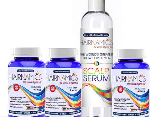 GROWTH DUO SUPREME-3 Months of Vitamins +8oz Serum