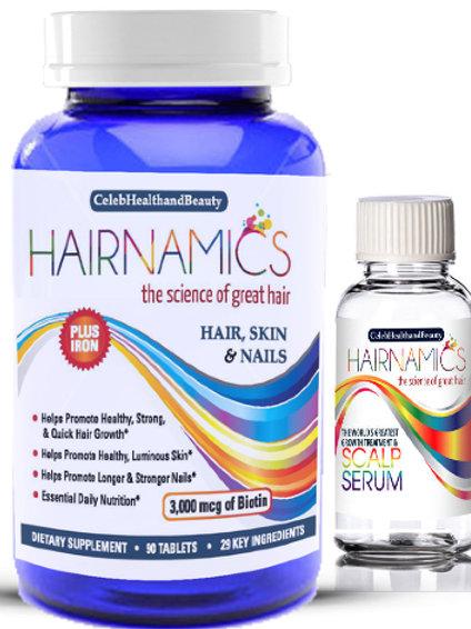 GROWTH DUO -1 Month of Vitamins + 1oz Serum Sample